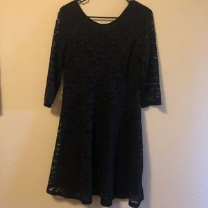 Lush black lace dress